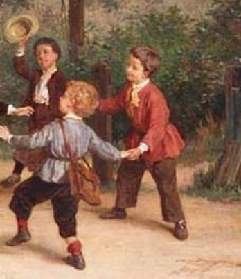 Che gioco stanno facendo i bambini nei quadri - Quadri per camera bambini ...